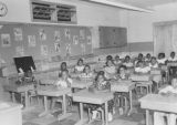 Students seated at desks